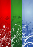 Floral banner. Collect floral banner with variant color, element for design, vector illustration Stock Images