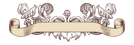Floral banner. Floral old banner, vector illustration royalty free illustration