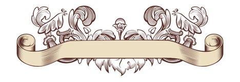 Floral banner. Floral old banner, vector illustration Stock Photography