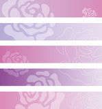 Floral banner backgrounds Stock Image