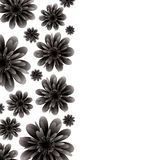 Floral banner black Stock Images