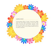 Floral banner circle Stock Photos