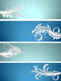 Floral banner collection Royalty Free Stock Photo
