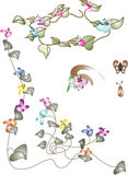 Floral banner and corner Stock Photography