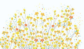 Floral banner with daffodil flowers cute Royalty Free Stock Images