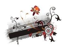 Floral banner illustration Stock Images