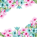 Floral banner. Invitation or card. Watercolor. Vector illustration Royalty Free Stock Images