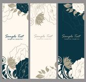 Floral banner. Invitations or congratulation Royalty Free Stock Photos