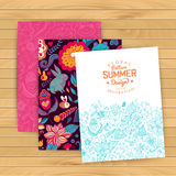Floral banner for life events, vector. Greeting floral card. Pla Royalty Free Stock Images