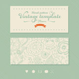 Floral banner for life events, vector. Greeting floral card. Pla Stock Photo