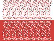 Floral banner pattern. In 2 colors, can be repeated Stock Images
