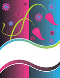 Floral Banner Presentation Stock Images