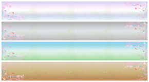 Floral banner set (01). Set of abstract floral banner in various colors Royalty Free Stock Photo