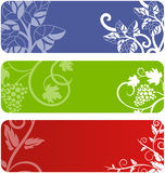 Floral banner set. Set of floral banner backgrounds Stock Photos