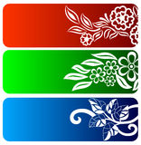 Floral banner set. Set of floral banner backgrounds Stock Image