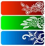 Floral banner set Stock Image