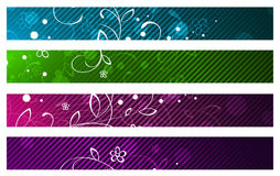 Floral Banner Set Royalty Free Stock Images