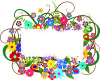 Floral banner with space for your text Stock Images