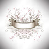 A floral banner in subdued colors Royalty Free Stock Image