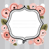Floral banner vector. Vector illustration of a beautiful floral background with editable banner for your text vector illustration
