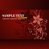 Floral banner vector. The colourful floral design background Royalty Free Stock Photo