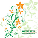 Floral banner vector. The green floral design background Royalty Free Stock Photography