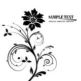 Floral banner vector. Black and white floral banner vector Stock Photo