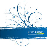 Floral banner vector. The blue floral banner vector Royalty Free Stock Images
