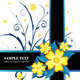 Floral banner vector Royalty Free Stock Images