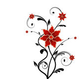 Floral banner vector. The floral background, vector illustration Royalty Free Stock Images