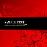 Floral banner vector. Red floral banner, vector illustration Stock Photo