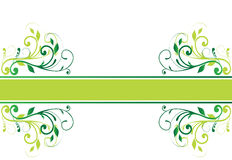 Floral banner (vector). On a white background Royalty Free Stock Photo