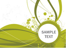 Floral banner vector for sample text in wave Stock Photo