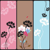 Floral banners Stock Photo