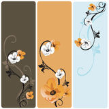 Floral banners. Set of floral web banners Royalty Free Stock Images