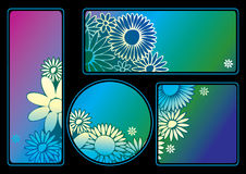 Floral banners. Stock Photo