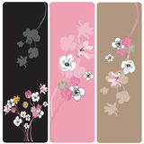 Floral banners. Set of floral web banners Royalty Free Stock Photography