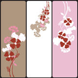 Floral banners. Set of floral web banners Stock Images