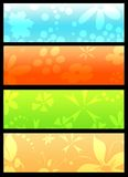 Floral banners Stock Images