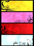 Floral banners. Colorful floral banners or templates Royalty Free Stock Photography