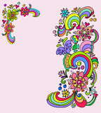Floral banners. Colorful hand drawn floral designs Royalty Free Stock Photos