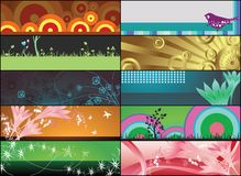 Floral banners. Illustration of floral design banners Royalty Free Stock Image
