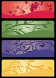 Floral banners. Floral banner templates vector illustration Stock Image