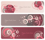 Floral banners collection Royalty Free Stock Photos