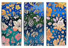 Floral banners collection Stock Image