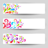 Floral banners. Banners with floral colorful elements royalty free illustration