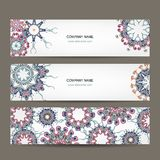 Floral banners design with place for your text Stock Photo