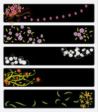 Floral Banners. Elegant flower banners, nice graphic for weddings mothers or valentines day Royalty Free Stock Images