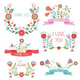 Floral banners for life events Stock Photos