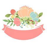floral banners for life events Royalty Free Stock Images